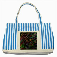 Texture Colorful Abstract Pattern Striped Blue Tote Bag