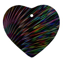 Texture Colorful Abstract Pattern Heart Ornament (two Sides)