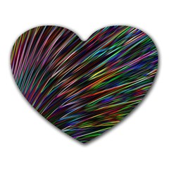 Texture Colorful Abstract Pattern Heart Mousepads
