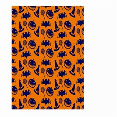 Witch Hat Pumpkin Candy Helloween Blue Orange Large Garden Flag (Two Sides)