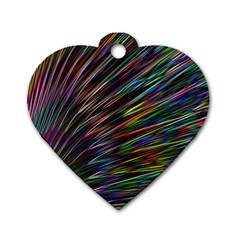 Texture Colorful Abstract Pattern Dog Tag Heart (two Sides)