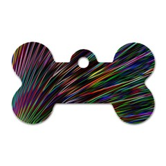 Texture Colorful Abstract Pattern Dog Tag Bone (two Sides)