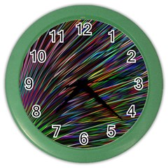 Texture Colorful Abstract Pattern Color Wall Clocks