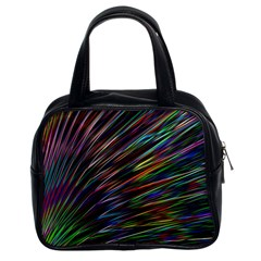 Texture Colorful Abstract Pattern Classic Handbags (2 Sides)