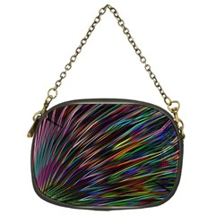 Texture Colorful Abstract Pattern Chain Purses (one Side)