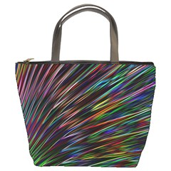 Texture Colorful Abstract Pattern Bucket Bags