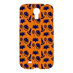 Witch Hat Pumpkin Candy Helloween Blue Orange Samsung Galaxy S4 I9500/I9505 Hardshell Case
