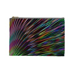 Texture Colorful Abstract Pattern Cosmetic Bag (large)