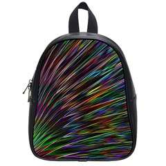 Texture Colorful Abstract Pattern School Bags (small)