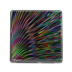 Texture Colorful Abstract Pattern Memory Card Reader (square)