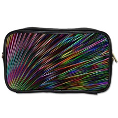 Texture Colorful Abstract Pattern Toiletries Bags 2 Side