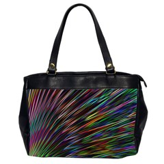 Texture Colorful Abstract Pattern Office Handbags (2 Sides)