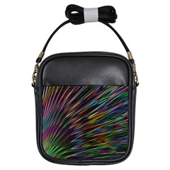 Texture Colorful Abstract Pattern Girls Sling Bags