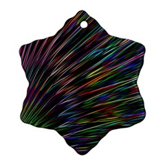Texture Colorful Abstract Pattern Snowflake Ornament (two Sides)