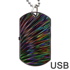Texture Colorful Abstract Pattern Dog Tag Usb Flash (one Side)
