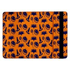Witch Hat Pumpkin Candy Helloween Blue Orange Samsung Galaxy Tab Pro 12.2  Flip Case