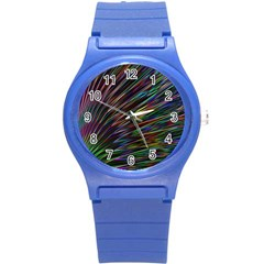 Texture Colorful Abstract Pattern Round Plastic Sport Watch (s)