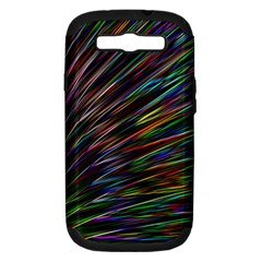 Texture Colorful Abstract Pattern Samsung Galaxy S III Hardshell Case (PC+Silicone)