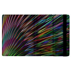 Texture Colorful Abstract Pattern Apple Ipad 2 Flip Case