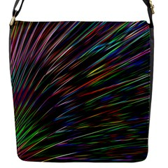 Texture Colorful Abstract Pattern Flap Messenger Bag (s)