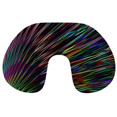 Texture Colorful Abstract Pattern Travel Neck Pillows