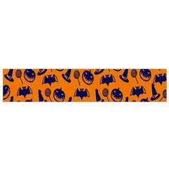 Witch Hat Pumpkin Candy Helloween Blue Orange Flano Scarf (Small)