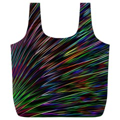Texture Colorful Abstract Pattern Full Print Recycle Bags (L)
