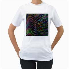 Texture Colorful Abstract Pattern Women s T Shirt (white)