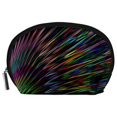 Texture Colorful Abstract Pattern Accessory Pouches (large)