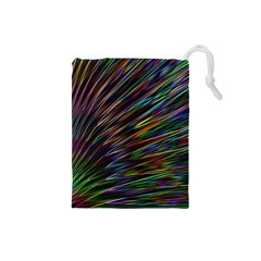 Texture Colorful Abstract Pattern Drawstring Pouches (small)