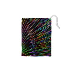 Texture Colorful Abstract Pattern Drawstring Pouches (xs)