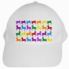 Colorful Horse Background Wallpaper White Cap