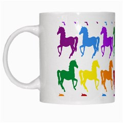 Colorful Horse Background Wallpaper White Mugs