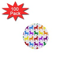 Colorful Horse Background Wallpaper 1  Mini Buttons (100 Pack)
