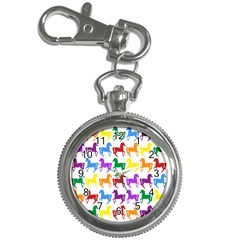 Colorful Horse Background Wallpaper Key Chain Watches