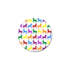Colorful Horse Background Wallpaper Golf Ball Marker