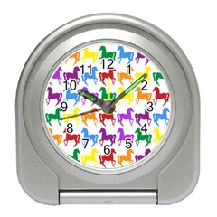 Colorful Horse Background Wallpaper Travel Alarm Clocks
