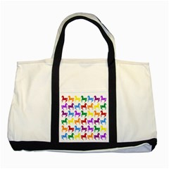 Colorful Horse Background Wallpaper Two Tone Tote Bag