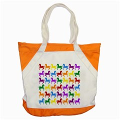 Colorful Horse Background Wallpaper Accent Tote Bag