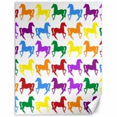 Colorful Horse Background Wallpaper Canvas 12  X 16