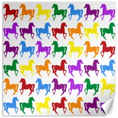 Colorful Horse Background Wallpaper Canvas 16  X 16