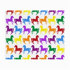 Colorful Horse Background Wallpaper Small Glasses Cloth (2 Side)