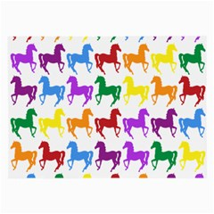 Colorful Horse Background Wallpaper Large Glasses Cloth (2 Side)