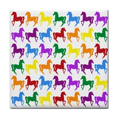 Colorful Horse Background Wallpaper Face Towel