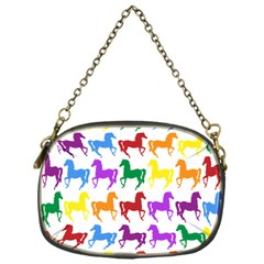 Colorful Horse Background Wallpaper Chain Purses (One Side)