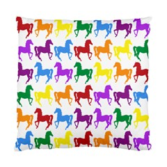 Colorful Horse Background Wallpaper Standard Cushion Case (two Sides)