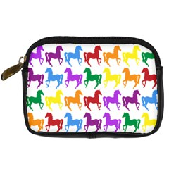 Colorful Horse Background Wallpaper Digital Camera Cases