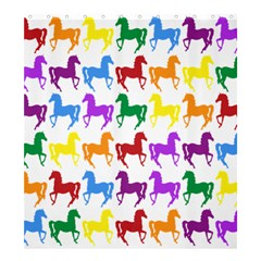 Colorful Horse Background Wallpaper Shower Curtain 66  X 72  (large)