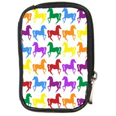 Colorful Horse Background Wallpaper Compact Camera Cases