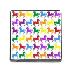 Colorful Horse Background Wallpaper Memory Card Reader (square)